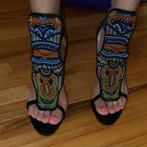 Barbara Bui beaded sandals